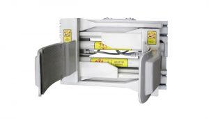 Forklfit Đính kèm Thép Trắng 55 Gallon Xe nâng Trống Kẹp